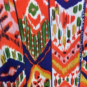 Anthropologie Dresses - Anthro Maeve Bright Orange,Green, Blue Print Dress